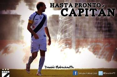 En el fan page de facebook oficial del Club Danubio de Uruguay le hacen una despedida al zaguero central que llegaría entre hoy y mañana al equipo.