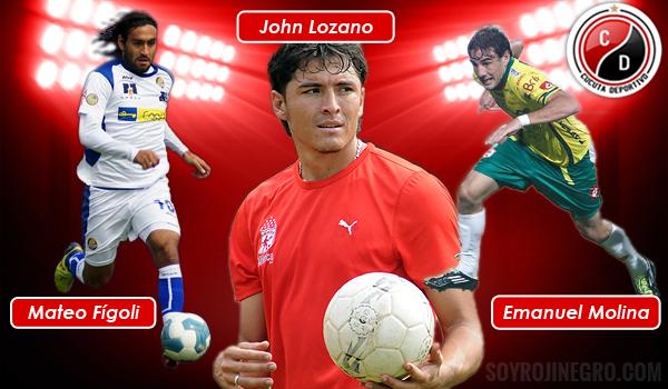 La oficina de prensa del Cúcuta Deportivo informó que estos tres jugadores Figoli (Uruguayo), Molina (Argentino) y Lozano (Colombiano) llegan entre mañana y el sábado para sumarse a la nómina del equipo que maneja el técnico Quintabani.