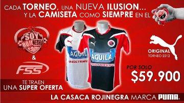 Aprovecha ésta gran promoción de la camiseta PUMA Original que el equipo usará en este campeonato, SÓLO HASTA EL SÁBADO 4 DE FEBRERO EN SOLOFUTBOL CUCUTA y Despachos a Todo el País.
