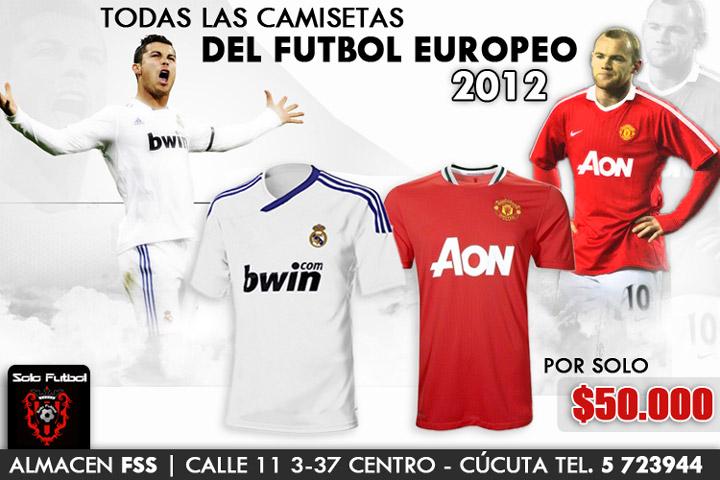 Las camisetas de los mejores clubes del mundo sólo para tí en SOLOFUTBOL CUCUTA,  la filial de FSS en la ciudad.