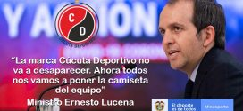 Ministro Lucena asegura que la marca Cúcuta Deportivo no va a desaparecer